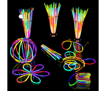 Breaklight.be Breaklight 215st Glow in the dark Premium Tri color Party pakket- Neon breaklights- Fluo Glow Pakket