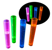 Breaklight.be Neon Shot glass test tube - 20 pieces | Reusable plastic tube 45 ml | 4 colors