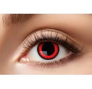Eyecatcher Lentilles de couleur Sharingan Manga Red Lunatic | Lentilles d'Halloween pour 3 mois d'utilisation