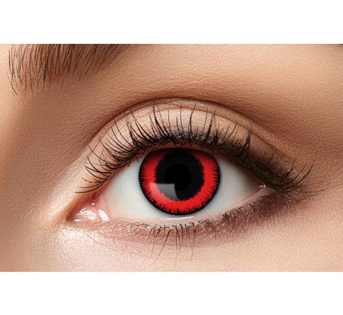 Eyecatcher Lentilles de couleur Sharingan Manga Red Lunatic   Lentilles d'Halloween pour 3 mois d'utilisation
