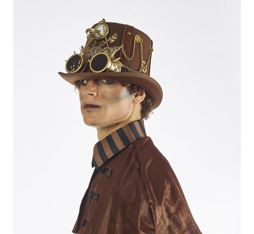 Steampunk Luxury Hat with Clock | Luxury Hat retro futuristic