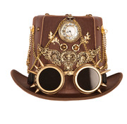 Partyline Steampunk Luxury Hat with Clock | Luxury Hat retro futuristic