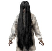 Widmann Black Evil pruik | Extra lange pruik 100 cm | Horror pruik