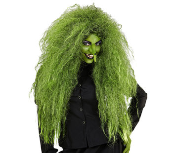 Widmann Wild Green Witch Wig | Oversized wig  | Horror wig