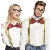 Partyline Nerd dress up set accessories | Nerd Glasses, Bow and Suspenders