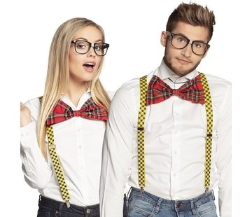 Partyline Accessoires d'habillage intello | Lunette, noeud et bretelles Intello