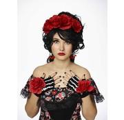 Partyline Ensemble d'habillage d'accessoires le jour des morts | Diadème, gants, boucles d'oreilles
