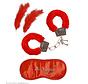 Set voor geliefden | Love set | handboeien van bont, hoofdband, 2 veren