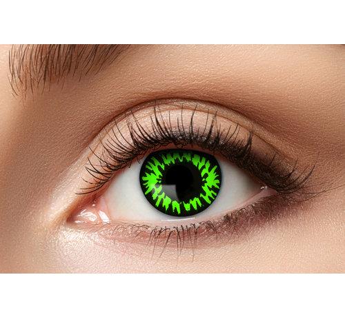 Eyecatcher Lentilles de couleur Sharingan Manga Green Wolf | Lentilles d'Halloween pour 3 mois d'utilisation