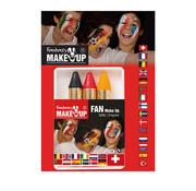 Partyline Marqueurs de peinture pour le visage noir-jaune-rouge | supporters Belgique ou Allemagne
