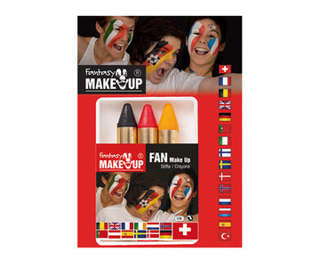 Partyline Face paint markers black-yellow-red | for supporters Belgium or Germany