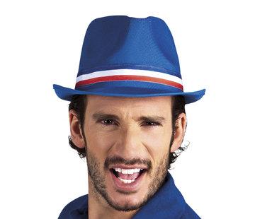 Partyline Chapeau gangster blue supporter France adulte
