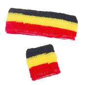 Partyline Set bandeau et poignet éponge supporter Belgique  pour adults