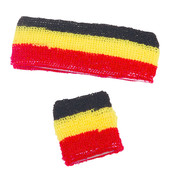 Partyline Sweatband set Belgium for adults - Supporters Belgium