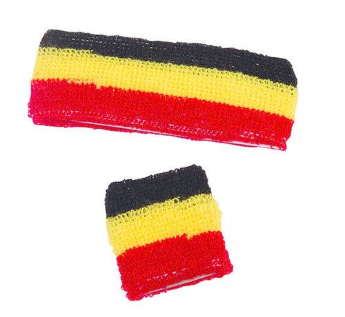 Partyline Zweetband set België voor volwassenen | Supporters België