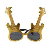 Partyline Lunettes de guitare rock dorées pour adultes