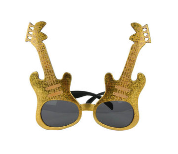 Partyline Gold rock guitar glasses for adults