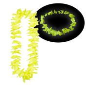 Breaklight.be Colliers Hawaii jaune fluo 12 pièces