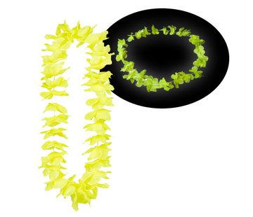 Breaklight.be Neon gele Hawaii kransen 12 stuks