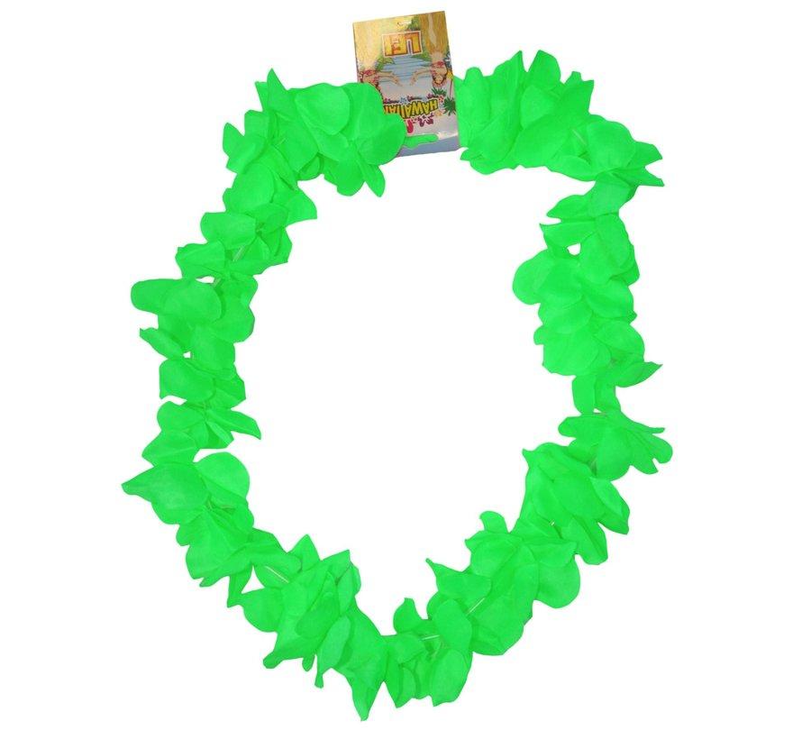 Neon groene Hawaii kransen 12 stuks - Neon Hawaii halskettingen