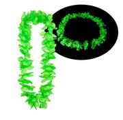 Breaklight.be Colliers Hawaii vert fluo 12 pièces