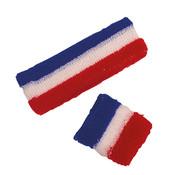 Partyline Set bandeau et poignet éponge supporter France  pour adults