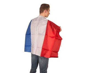 Partyline Cape drapeau France - Cape de supporters bleu-blanc-rouge