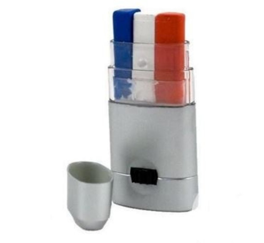 Make-up stick blue-white-red for supporters France