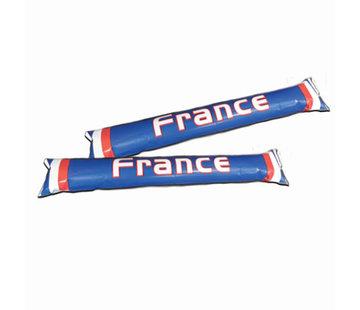Partyline Opblaasbare supporter sticks Frankrijk - 2 stuks