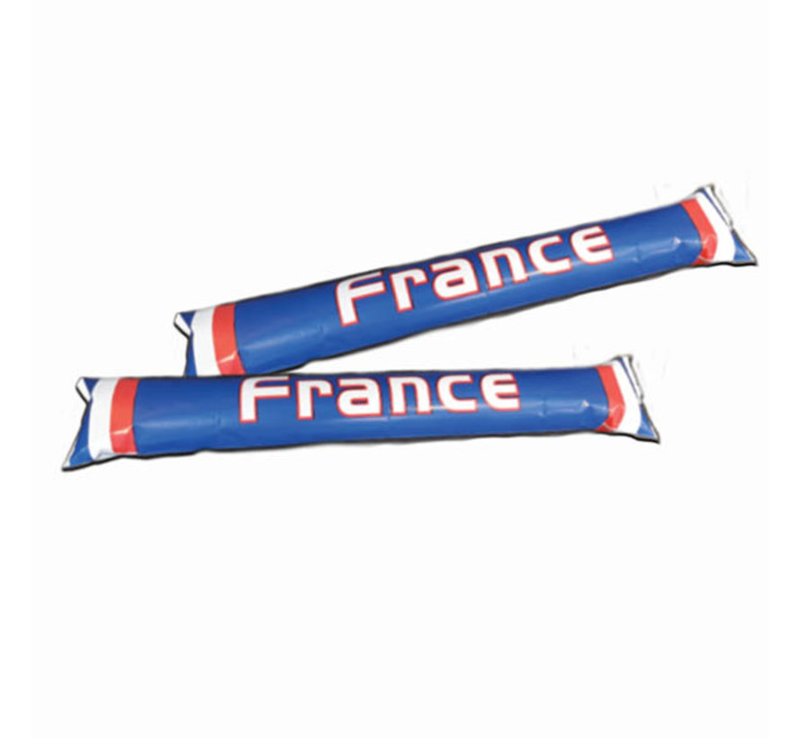 Inflatable supporter sticks France - 2 pieces