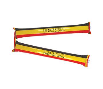 Partyline Opblaasbare supporter sticks België - 2 stuks
