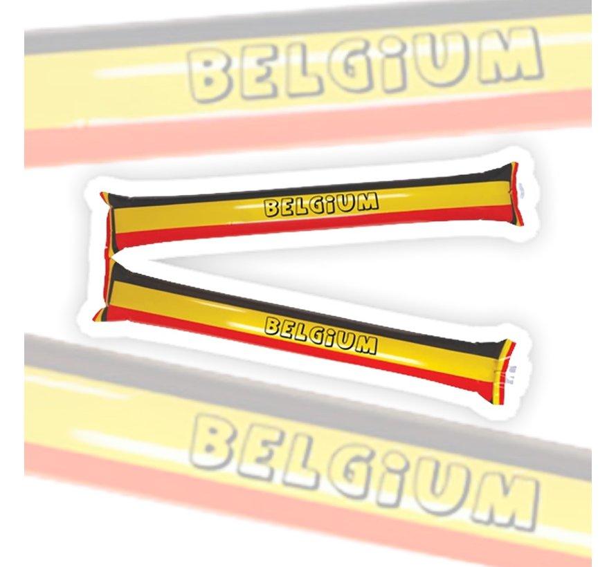 Inflatable supporter sticks Belgium - 2 pieces