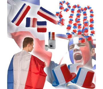 Partyline Frans supporters pakket - EK pakket met 33 supporter accessoires van Frankrijk