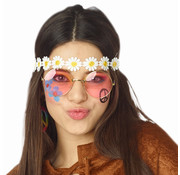 Partyline Hippie bloem hoofdband voor volwassenen