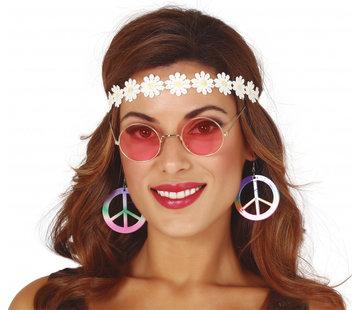 Partyline Hippie accessoire set voor vrouwen  - 3 verkleedaccessoire