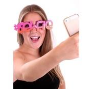 Partyline Selfie bril voor volwassenen
