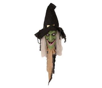 Partyline Sprekende Heks 70 cm | Halloween deurdecoratie