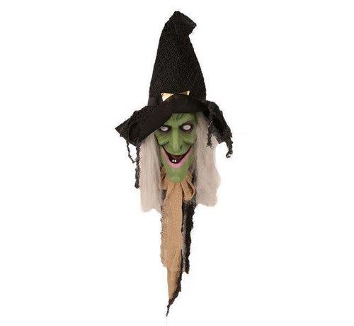 Partyline Sorcière parlante 70 cm   Décoration de porte Halloween
