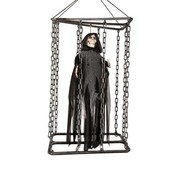 Partyline Deco Skull in cage 50cm shaking