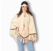 Partyline Hippie poncho for adults