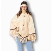 Partyline Hippie poncho voor volwassenen