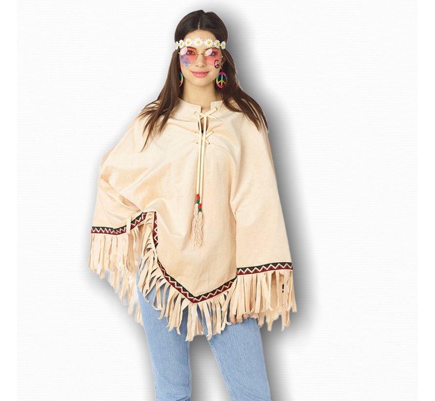 Hippie poncho voor volwassenen - Festival poncho - Indianen poncho