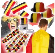 Partyline Belgisch supporters pakket - EK pakket met 33  Belgische gadgets