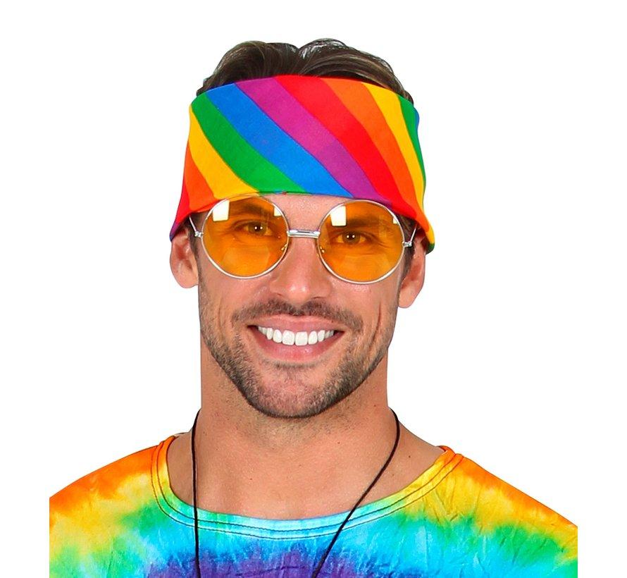 Bandana rainbow 55x55 cm - 100% cotton - for adults / unisex