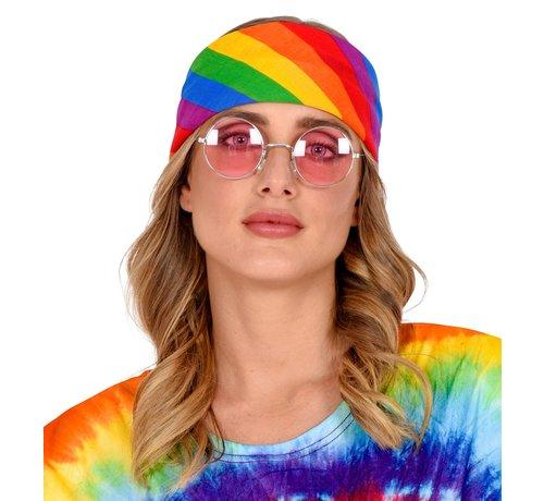 Widmann Bandana rainbow 55x55 cm - 100% cotton - for adults / unisex