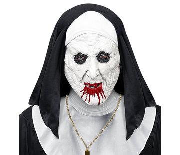 Widmann Mask horror nun with headpiece for adults
