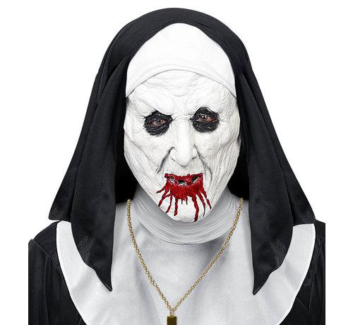 Widmann Masker horror non met hoofdtooi - halfgelaatsmasker latex- voor volwassenen / unisex