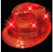 Breaklight.be Chapeaux a led Rouge