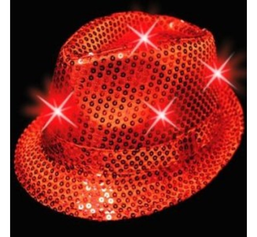 Led Hat Funk Red