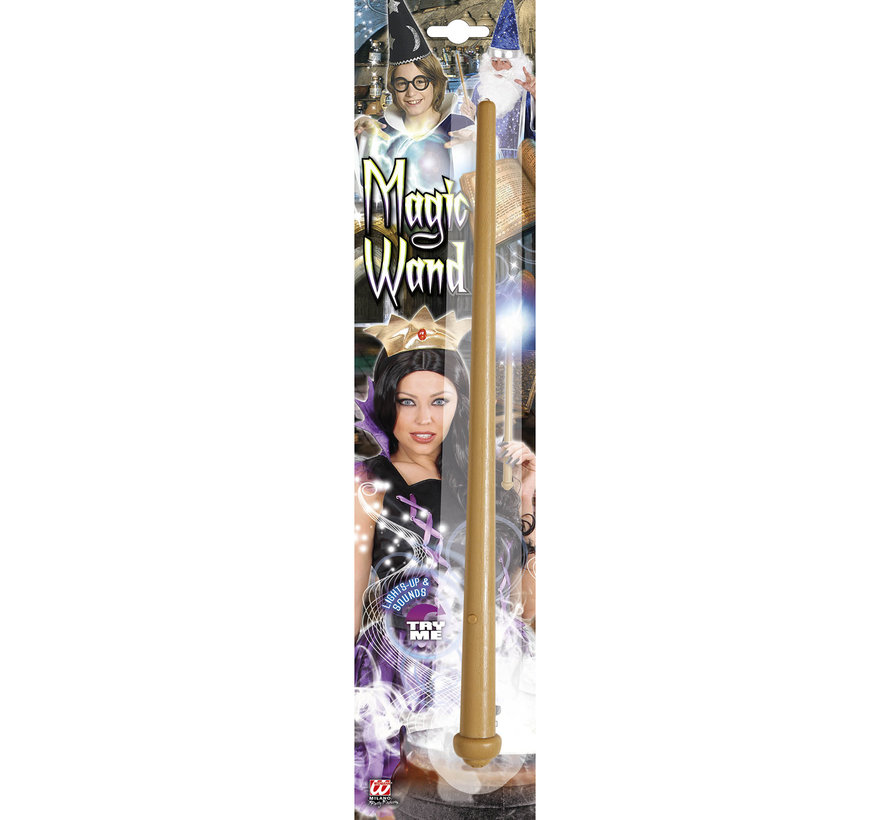 Magic wand 36 cm with light and sound (including 3 batteries)